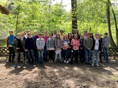 Nawi Plus des Jahrgangs 5 im Vogelpark Schifferstadt