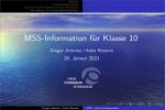 Thumbnail for the post titled: Information zum Eintritt in die Oberstufe