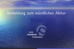 Thumbnail for the post titled: Information zum mündlichen Abitur