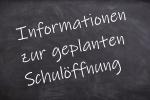 Thumbnail for the post titled: Elterninfo zur Schulöffnung